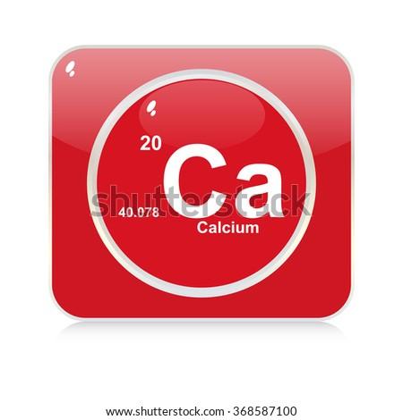 calcium chemical element button - stock vector