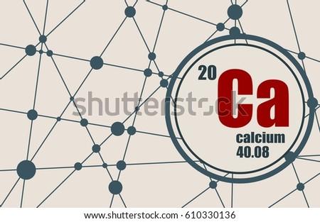 Calcium chemical element sign atomic number stock vector 610330136 calcium chemical element sign with atomic number and atomic weight chemical element of periodic urtaz Images