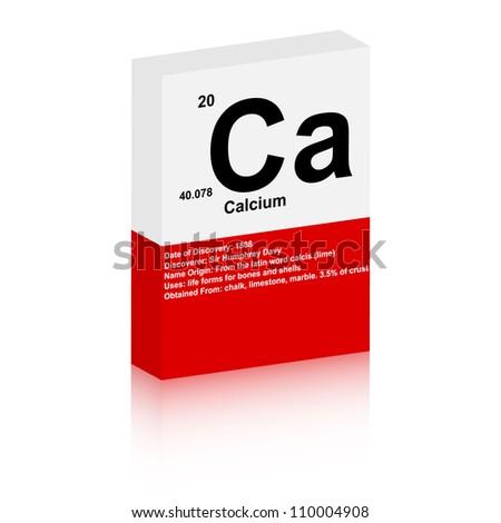 calcium symbol - stock vector