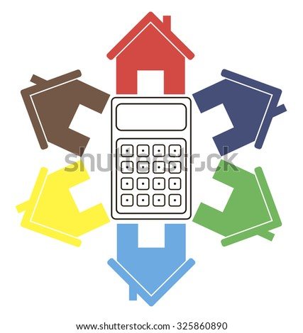 Calculation stock vectors vector clip art shutterstock for Build new house calculator