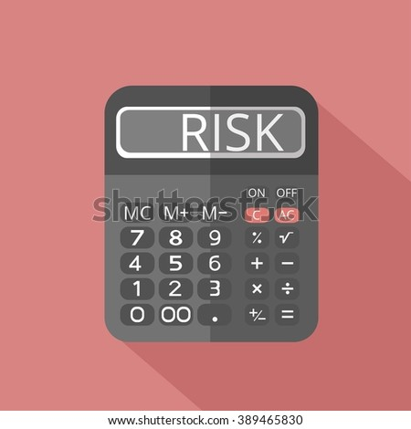 calculation of risk on the edge of bankruptcy - stock vector
