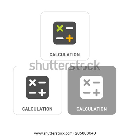 Calculation Pictogram Icons - stock vector