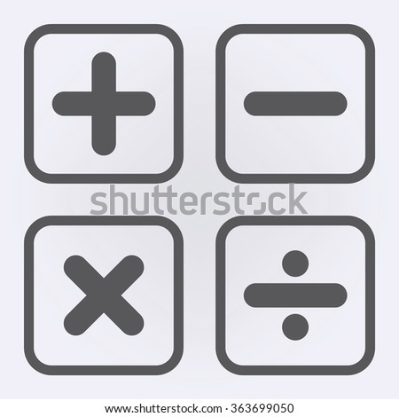 Calculaton icon set . Vector illustration