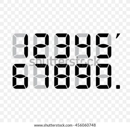 Digital Numbers Stock Images Royalty Free Images