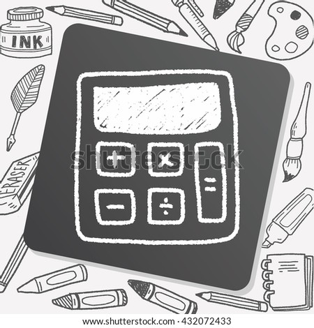 calculator doodle drawing
