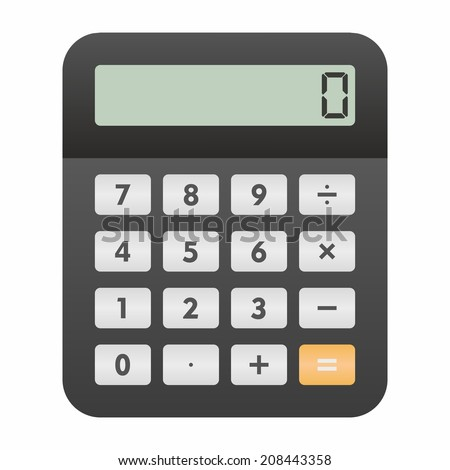 Calculator icon - stock vector