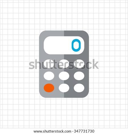 Calculator icon - stock vector