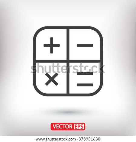 Calculator  icon, calculator  vector icon, calculator  icon illustration, calculator  icon eps, calculator  icon picture, calculator  flat icon, calculator  icon design - stock vector