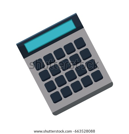 calculator icon finances economy concept