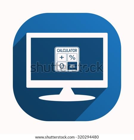 calculator. icon. vector design - stock vector