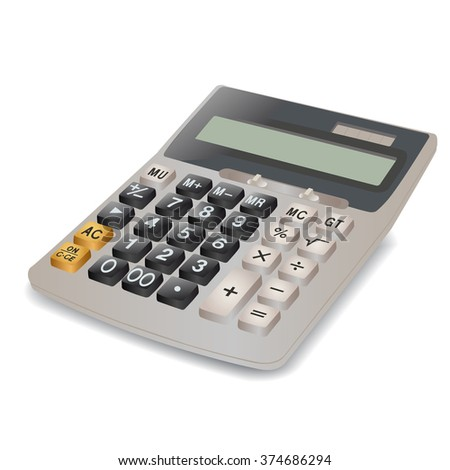 Calculator image on a white background