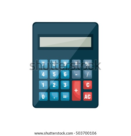 Calculator Math Device Isolated Icon Stock Vector 503700106 ...
