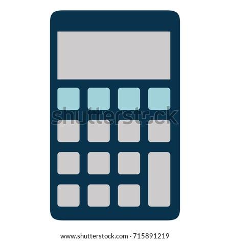 Calculator Math Isolated Icon Stock Vector (2018) 715891219 ...