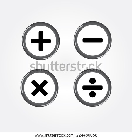 calculator on gray background icon