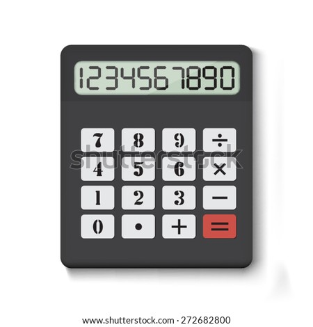 Calculator on white background - stock vector