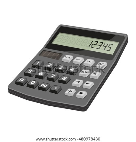 Calculator.Realistic image isolated on a white background
