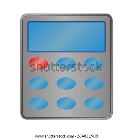Calculator sign icon. Bookkeeping symbol. Vector - stock vector