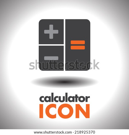 calculator vector icon - stock vector