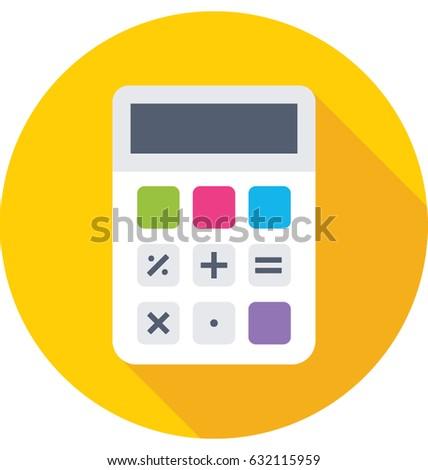 calculator vector icon stock vector royalty free 632115959