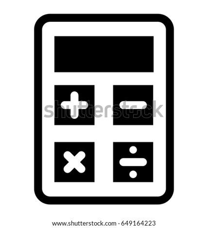 calculator vector icon stock vector royalty free 649164223