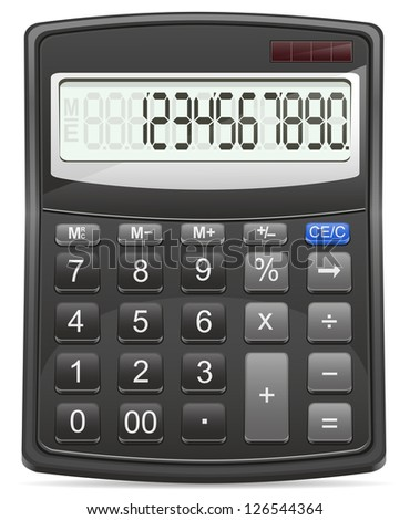 calculator vector illustration isolated on white background