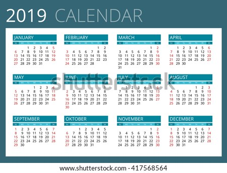 Calendar 2019 Stock Images, Royalty-Free Images & Vectors ...