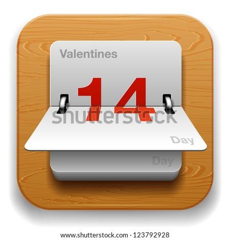 Calendar Date icon - stock vector