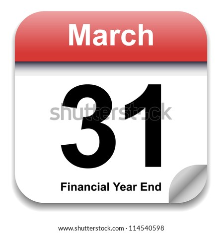 Calendar Date - March 31st (Vector) - stock vector