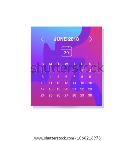 Calendar Design Concept June Business Stock Vector - Public relations calendar template