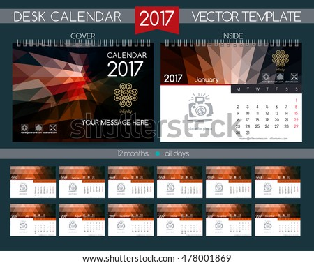 Calendar  Design Desk Calendar  Stock Vector Hd Royalty