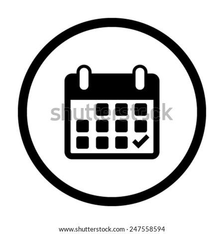 Calendar flat icon - Vector - stock vector