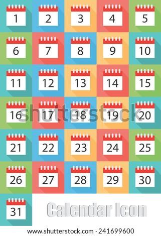 Calendar icon - stock vector