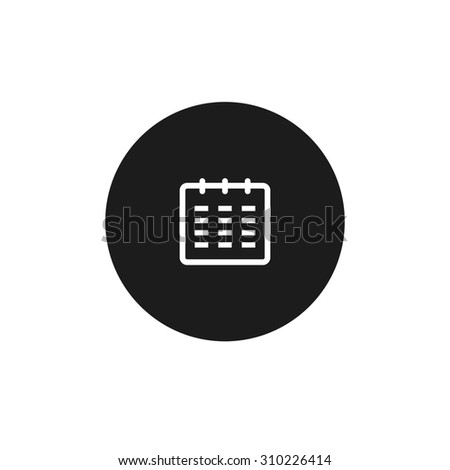Calendar Date Circled Calendar Icon Black Circle
