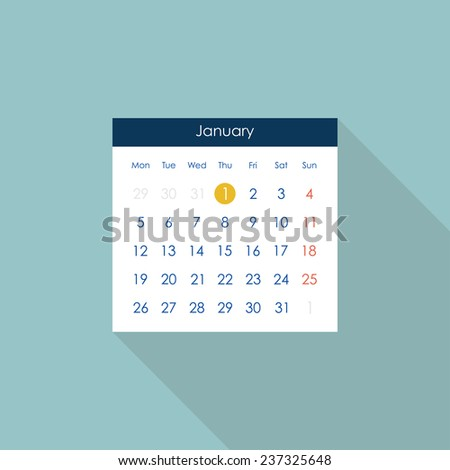 Calendar icon. Flat style. Vector illustration - stock vector