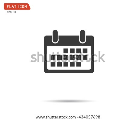 Calendar Icon, logo vector illustration