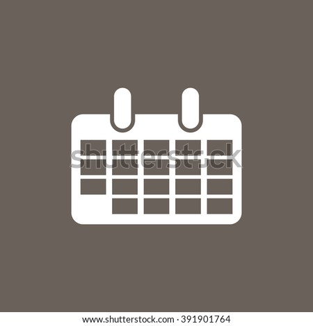 Calendar Icon on Dark Gray Color. Eps-10.