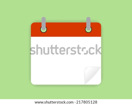 Calendar Icon Vector - stock vector