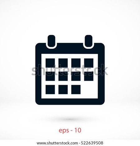 calendar icon vector, flat design best vector icon