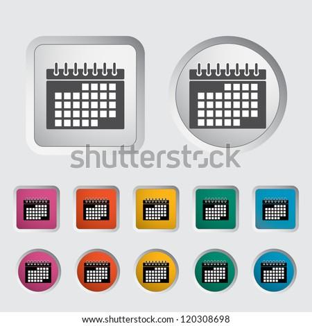 Calendar icon. Vector illustration. - stock vector
