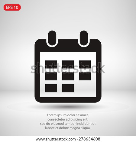 Calendar of Events Icon Calendar Icon Vector