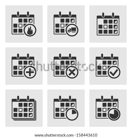 Calendar Icons. Events, Progress, Delivery. Vector - stock vector