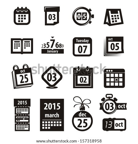 Calendar icons. Vector format - stock vector