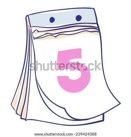 Calendar Menstrual Cycle or Business planner organizer Tear-off vector icon illustration - stock vector