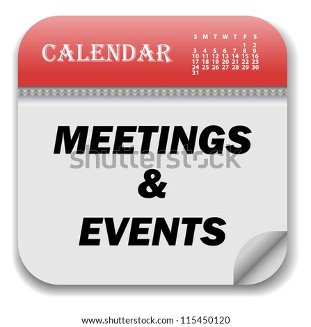 Calendar of Meetings and Events - stock vector