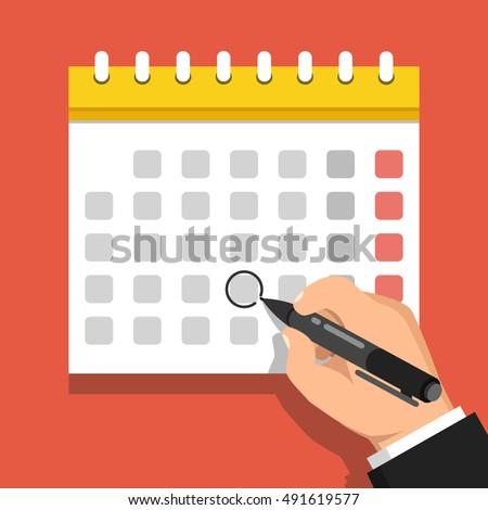 one week calendar