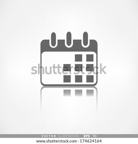 Calendar organizer icon. Date symbol - stock vector