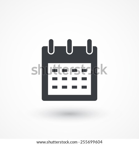 Calendar organizer icon. Vector illustration flat design