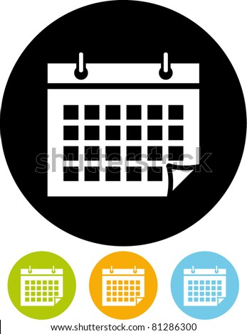 Calendar organizer - Vector - stock vector