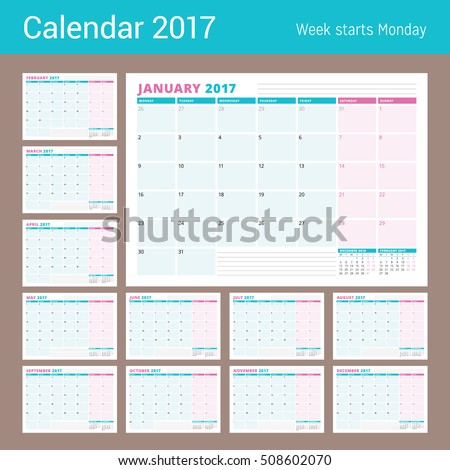 Planner stock images royalty free images vectors for 12 month planner template