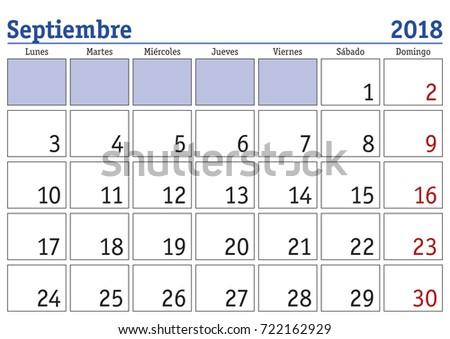calendar 2018 september printable